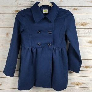 Girls Crazy 8 navy blue wool blend pea coat